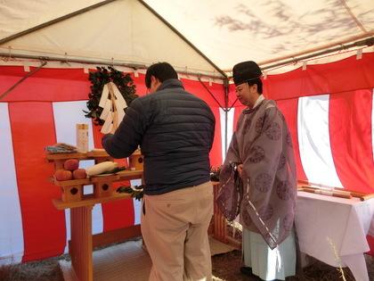 奈良市S様邸の地鎮祭は添御県坐神社で