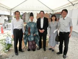 滋賀県大津市のS様邸の地鎮祭