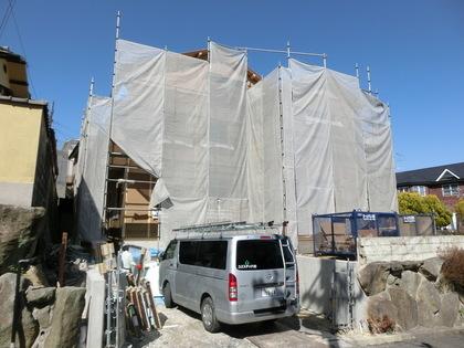 上棟した奈良市のS様邸