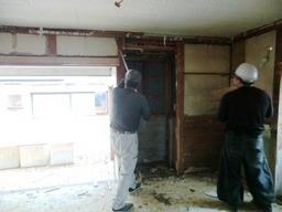 京都府精華町のF様邸リフォームの解体
