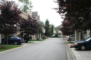 北米のバンクーバー郊外の街並み